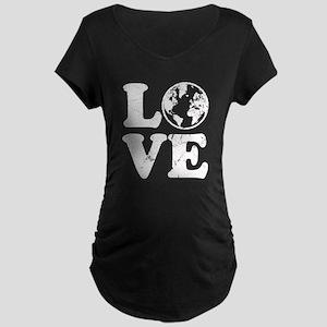 Vintage Love Earth Maternity Dark T-Shirt