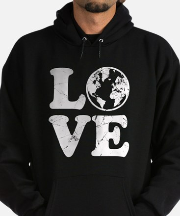 Vintage Love Earth Hoodie (dark)