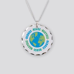 Reduce Reuse Recycle Necklace Circle Charm