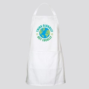Think Globally, Act Locally Apron