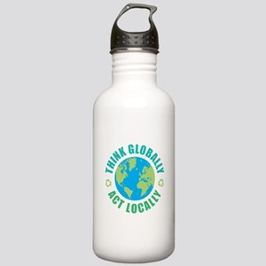 Think Globally, Act Lo Stainless Water Bottle 1.0L