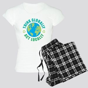 Think Globally, Act Locally Women's Light Pajamas