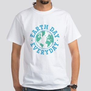 Vintage Earth Day Everyday White T-Shirt
