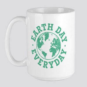 Vintage Earth Day Everyday Large Mug
