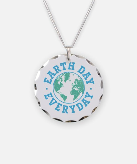 Vintage Earth Day Everyday Necklace