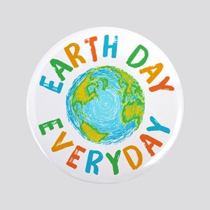 """Earth Day Everyday 3.5"""" Button"""