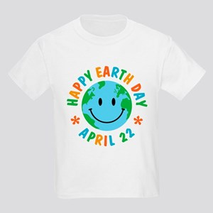 Happy Earth Day Kids Light T-Shirt