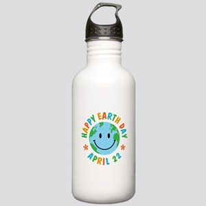 Happy Earth Day Stainless Water Bottle 1.0L