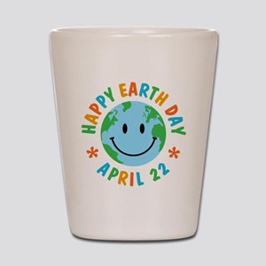 Happy Earth Day Shot Glass