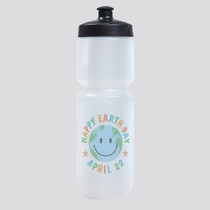 Happy Earth Day Sports Bottle