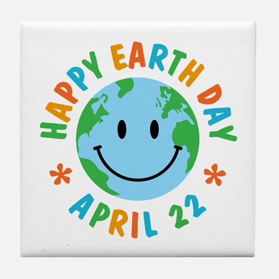 Happy Earth Day Tile Coaster