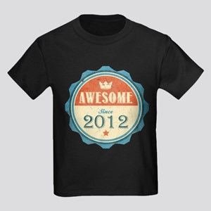 Awesome Since 2012 Kids Dark T-Shirt