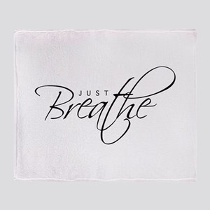 Just Breathe -Throw Blanket