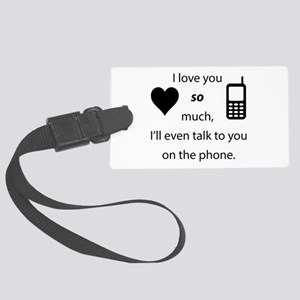 Introvert Love Large Luggage Tag