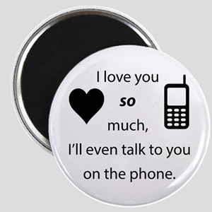 Introvert Love Round Magnet