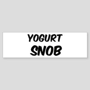 Yogurt Bumper Sticker