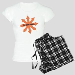 I'm with Stupid Women's Light Pajamas