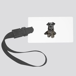 Schnauzer (gp-blk) Large Luggage Tag