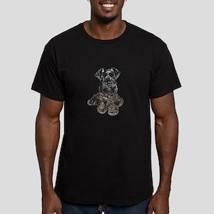 Schnauzer (gp-blk) Men's Fitted T-Shirt (dark)
