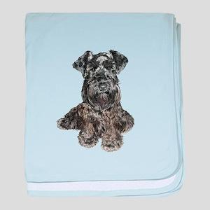 Schnauzer (gp-blk) baby blanket