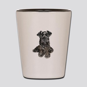 Schnauzer (gp-blk) Shot Glass