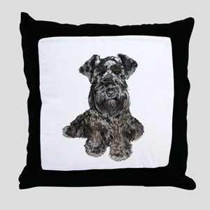 Schnauzer (gp-blk) Throw Pillow