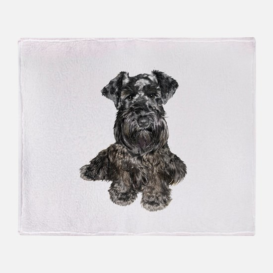 Schnauzer (gp-blk) Throw Blanket