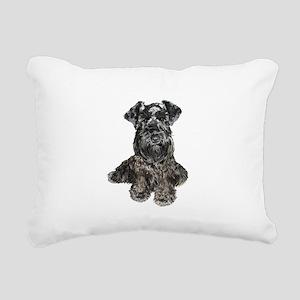 Schnauzer (gp-blk) Rectangular Canvas Pillow