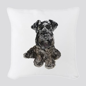 Schnauzer (gp-blk) Woven Throw Pillow