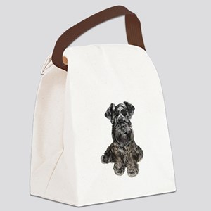 Schnauzer (gp-blk) Canvas Lunch Bag