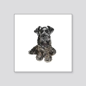 "Schnauzer (gp-blk) Square Sticker 3"" x 3"""