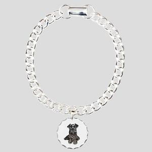 Schnauzer (gp-blk) Charm Bracelet, One Charm