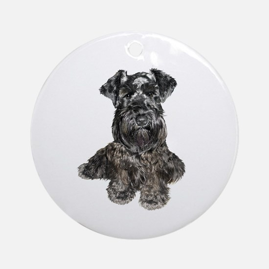 Schnauzer (gp-blk) Ornament (Round)