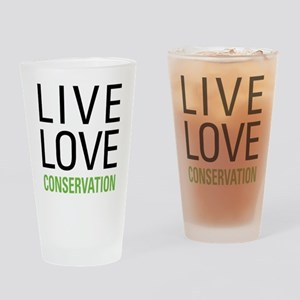 Live Love Conservation Drinking Glass