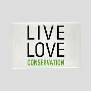 Live Love Conservation Rectangle Magnet