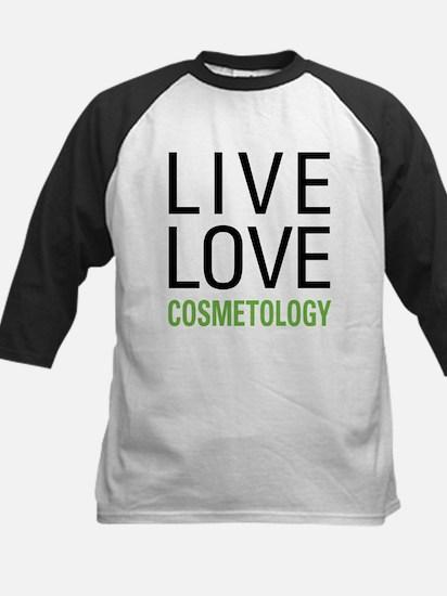 Live Love Cosmetology Kids Baseball Jersey