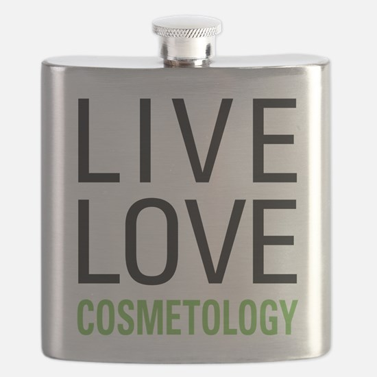 Live Love Cosmetology Flask