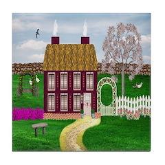 Cherry Tree Farm Cottage Ceramic Tile