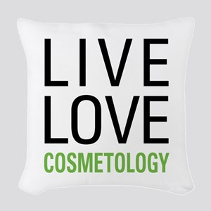 Live Love Cosmetology Woven Throw Pillow