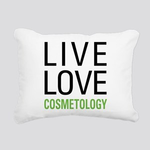 Live Love Cosmetology Rectangular Canvas Pillow