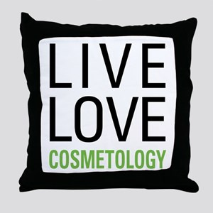 Live Love Cosmetology Throw Pillow