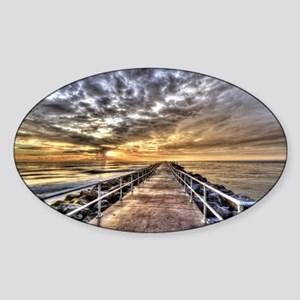 Walk To The Horizon Sticker (Oval)