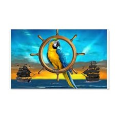 MACAW PIRATE PARROT Wall Decal