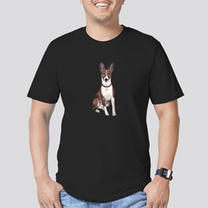 Basenji (brindle) Men's Fitted T-Shirt (dark)