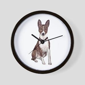Basenji (brindle) Wall Clock