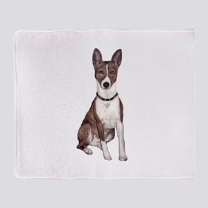 Basenji (brindle) Throw Blanket