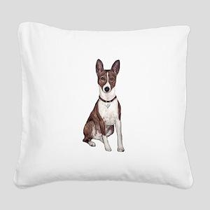 Basenji (brindle) Square Canvas Pillow