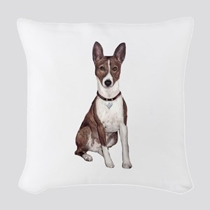 Basenji (brindle) Woven Throw Pillow