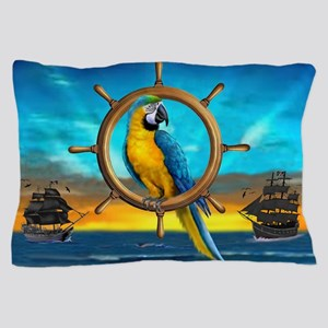MACAW PIRATE PARROT Pillow Case