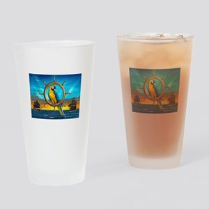 MACAW PIRATE PARROT Drinking Glass
